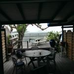 La terrasse depuis la chambre