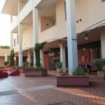 Hotellets innergård