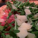 Pizza with Rucola, Parma ham & Parmigiano shavings