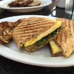 breakfast panini sandwich
