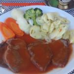 Veal in red wine sauce