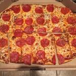 The box; pepperoni pizza