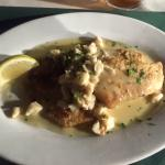 Fresh pompano with lump crab meat and a beurre blanc citrus..yums