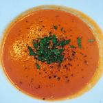 Tomatensuppe und Fettuccini