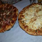 Meat head and Thai pizzas