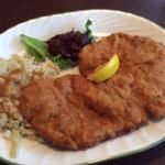 Classic Schnitzel with Spaetzle and German Potato Salad