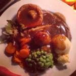 Lovely roast dinners served every day till 4pm (OAP size in picture)