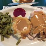 Turkey dinner special and fried chicken basket were the meals of the night for us. Tasty diner f
