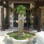 Fountain out front by courtyard
