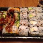 California rolls, shrimp with cucumber rolls & shrimp tempura rolls.