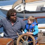 Our son with captain Niko