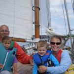 Enjoying a sail on a sunny July day.