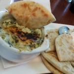 Spinach Artichoke Dip Served with Pita Bread