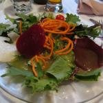 Dinner came with this light, refreshing salad.