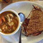 Cup of soup & half sandwich