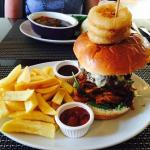 The gastro burger, tasted as good as it looks.