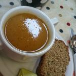 home made soup and brown bread made fresh daily