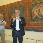 Dr Markus Gross-Morgen giving an explanation about the Roman frescoes, discovered in 1946,
