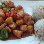 sweet and sour chicken, Miyo's Harbison, July 2015