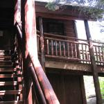 Stairs to private entrance for lodge room guests