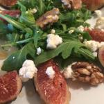 Fig and arugula salad! These are a few of my favorite things!!!! I can't believe it!