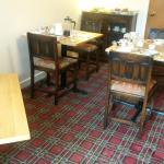 Breakfast room. Lovely carpet!