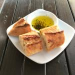 Bread and olive oil dipping sauce