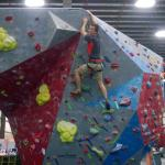 Climbing partner Nathen conquering all sides of the stand alone Boulder !