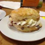 Cream and jam scone