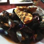 Mussels to die for and excellent grilled artichokes