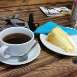 Coffee and lemon drizzle cake