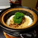 Rice, with small fishes, sesame and seaweed