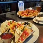 Fish Tacos and Idaho Nachos!  Get the GC Dip!!!