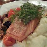 GF Pesto Salmon and Mash