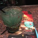 Blue Haze specialty drink. Made with Captain Morgan, pineapple juice and other delicious things!