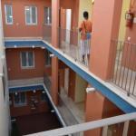 Cour privative de l'hôtel