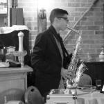 Alex Francis  on Saxophone at La Stalla every Thursdays