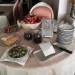 Frühstücksbüffet Hotel Mirafiori von aussen.