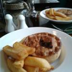 Speciality pie and chips (variety of pies on offer)