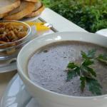 Supa crema de ciuperci cu smantana si crutoane - execelenta