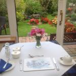 Breakfast looking onto St Ann's gardens