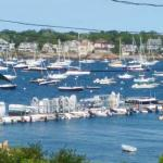 The view of Marblehead Harbor from the porch.