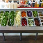 salad bar - pay a fixed rate for a small or large bowl