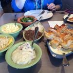Chicken Pot Pie, Pot Roast, Green Beans, Creamed Potatoes, Mac N Cheese, Squash Casserole