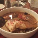 Cioppino - lots of seafood and savory broth!  GOOD!