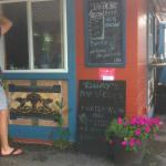 order window and chalkboard menu