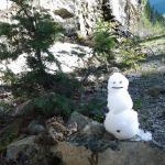 mein erster Schneemann im Juni !