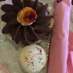 Chocolate pi and birthday cake macaron