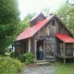 One of the maple syrup buildings on the property