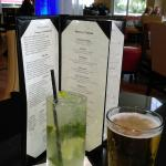 Mojito and beer